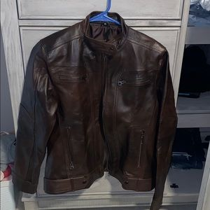 BRAND NEW excent outerwear leather jacket